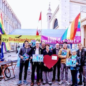 Regenbogen-Fahrrad-Demo Potsdam